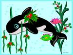 Christmas Orca with Fish Friends