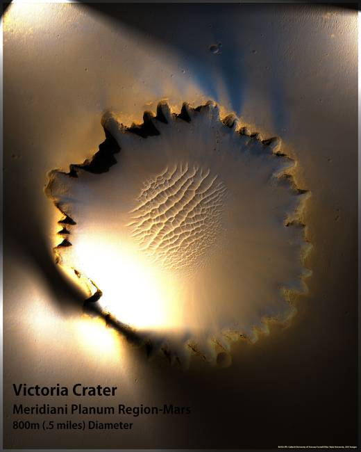 Victoria Crater at Meridiani Planum