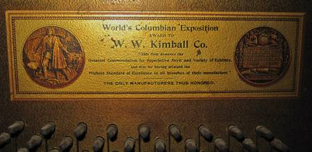 Award to Kimball Piano Co., 1908