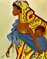 African Mother and Child