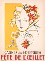 Poster advertising the Fete de l'Oeillet at Cagnes