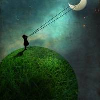 """""""Chasing the moon"""" by Catrin-Stein"""