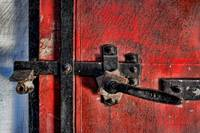 Red Door with Latch