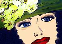 Lady with green hat I