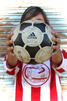soccer girl n adidas ball