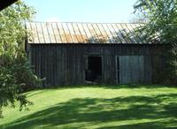Barn with open door