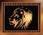 African Lion Motif Contemporary