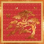 Asian Borcade Tree Motif Art