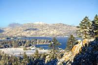 First Snow Big Bear Lake by Tony Kerst