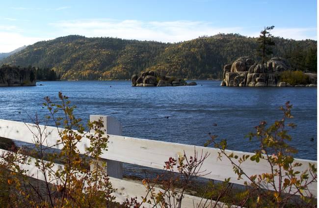 Fall Colors Boulder Bay, Big Bear, CA
