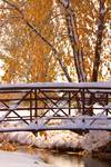 "Snowy Autumn Walking Bridge by James ""BO"" Insogna"