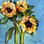 Sunflower in Blue by Jennifer Lommers