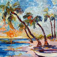 Do Not Disturb - Impressionist Oil Painting Island