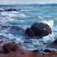 """""""Rocks and Surf at Weekapaug, RI"""" by blaney"""