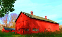 A Splendid Red Barn