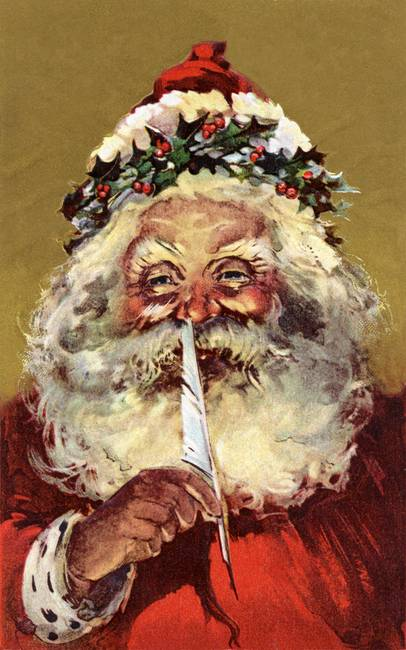 Santa Claus making a list