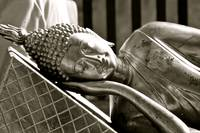 Sleeping Buddha Black and White