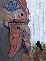 Totem with Black Bird