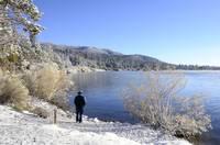 Hardy Fisherman Big Bear Lake by Tony Kerst