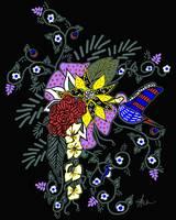 Ushering Spring Hummingbird by Kristen Stein