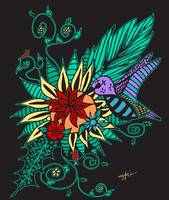 Hummingbird Floral by Kristen Stein