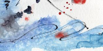 Titlewave Abstract Modern Art Watercolor by Ginett