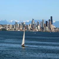 Summer Seattle Skyline by Patricia Schnepf
