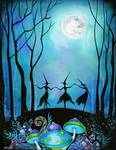 Witches Dancing Under the Moon