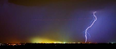 AC Strike Over the City Lights Panorama