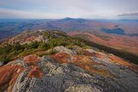Rocky summit of Vermont's Camels Hump in fall