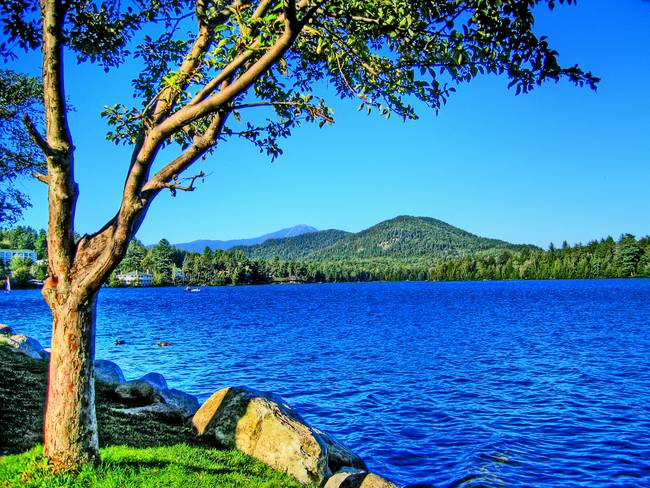 Mirror Lake in Lake Placid, NY