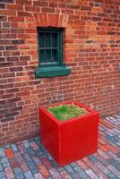 Red Box Under Green Window