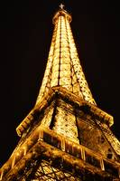 The Eiffel Tower at midnight