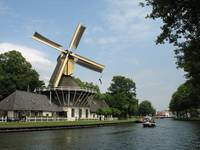 Turning Dutch windmill
