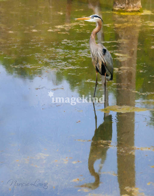 great blue heron painted 7