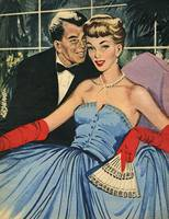 Illustration from magazine, 1951- A night out