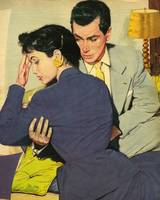 Illustration from magazine, 1958 - Upset