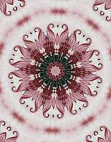 ornate elegant red kaleidoscope art