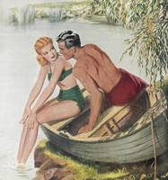 Illustration from 'Woman's Journal' magazine, 1950