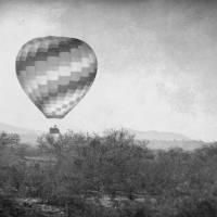"""Hot Air Balloon Flight over Southwest Desert BW Fi"" by lightningman"