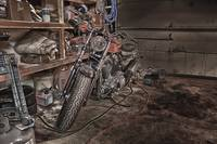 Harley in the Garage