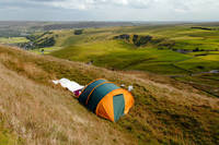 Tent Sited Near Summit of Mam Tor (29752-RDA)