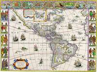 MAP OF SOUTH AMERICA CIRCA 1700