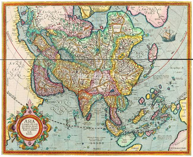 ANCIENT MAP OF OLD WORLD MAP EXPLORER MAP by CULT CLASSIC MOVIE POSTERS