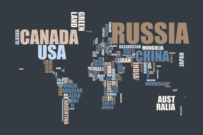 World map in words by michael tompsett gumiabroncs Image collections