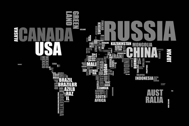 World map in words by michael tompsett gumiabroncs Images