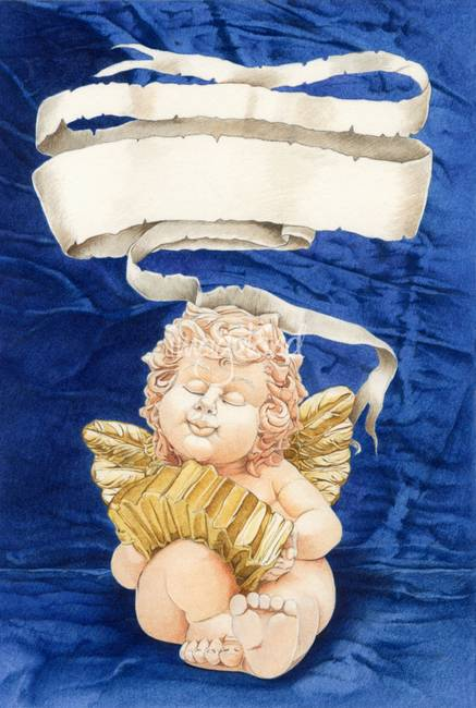 cherub with squeeze-box