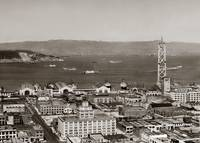 Western Span of the Bay Bridge Under Construction by WorldWide Archive