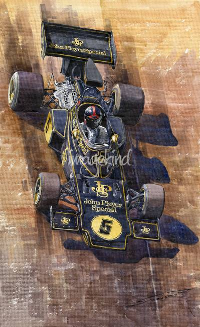 Lotus 72 D Spanish GP 1972 Emerson Fittipaldi