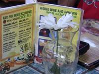 Drink Menu with Flower